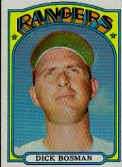 1972 Topps Baseball Cards      365     Dick Bosman